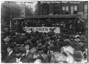 Paterson silk strikers and their children in May Day parade, 1913. Courtesy of Library of Congress, LC-USZ62-52620.