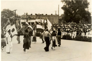 Parade at Bordentown School. Courtesy of NJ State Archives.