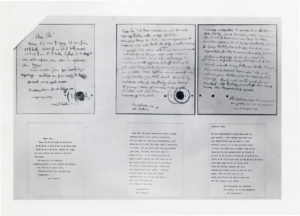 The first and second ransom notes of the Lindbergh kidnapping case. Courtesy of NJ State Archives.