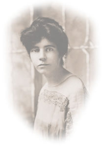 Alice Paul, Courtesy of Library of Congress. Shown in background photo.