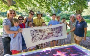 Students and teachers from the Banyan School making art during Dig it! Plant it! Eat it! Photo credit: Stan Freeny