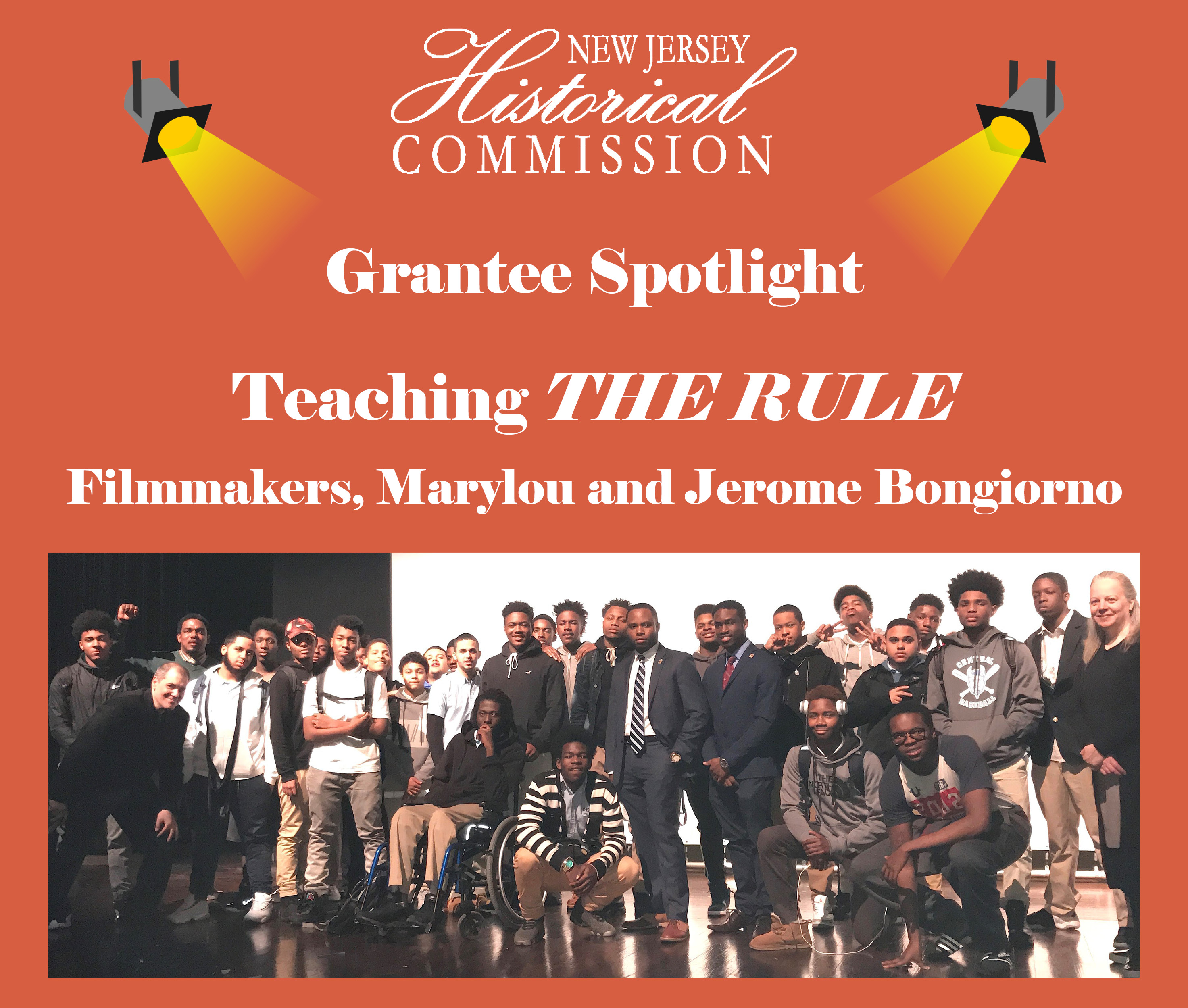 New Jersey Historical Commission (NJHC) Grantee Spotlight: Marylou and Jerome Bongiorno – Teaching THE RULE